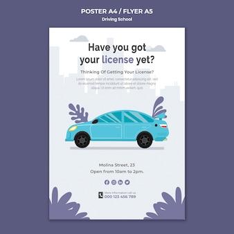 Sjabloon voor rijbewijs-flyer verkrijgen