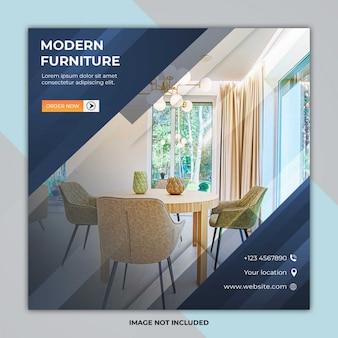 Sjabloon voor sociale media postbanners voor meubels