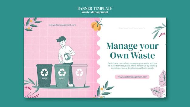 Sjabloon voor spandoek afvalbeheer