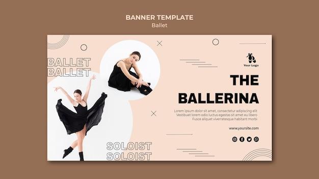 Sjabloon voor spandoek ballet concept