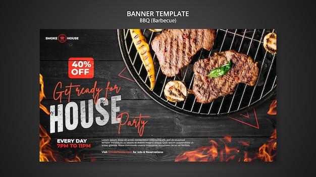 Sjabloon voor spandoek barbecue house