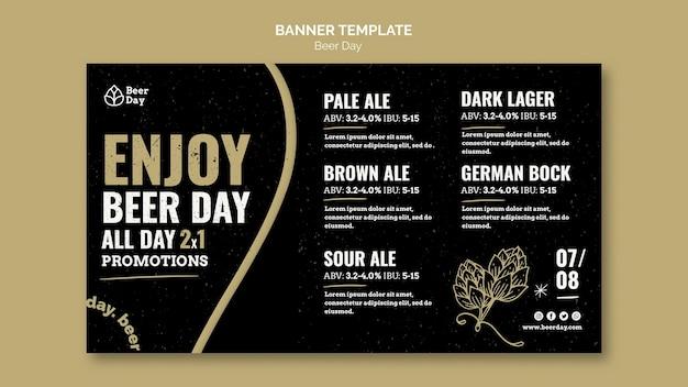 Sjabloon voor spandoek bier dag