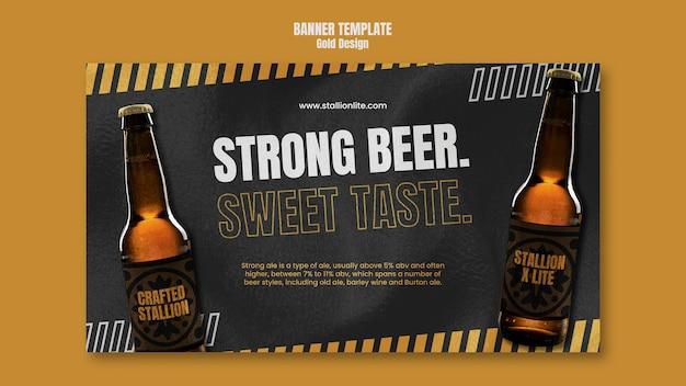 Sjabloon voor spandoek bierfestival