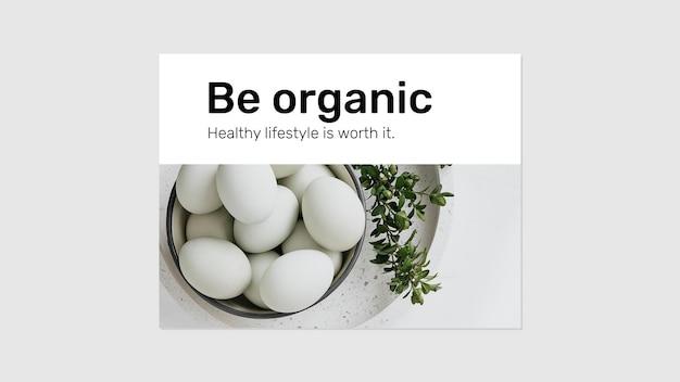 Sjabloon voor spandoek biologisch voedsel psd