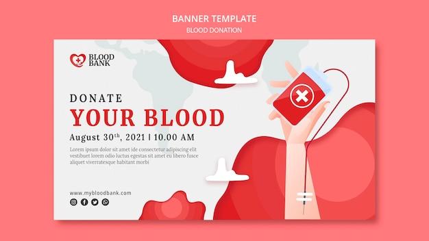 Sjabloon voor spandoek bloeddonatie