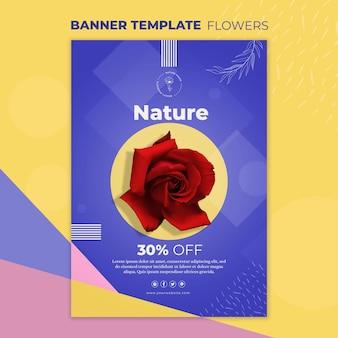 Sjabloon voor spandoek bloem concept