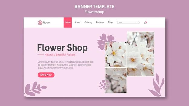 Sjabloon voor spandoek bloemenwinkel