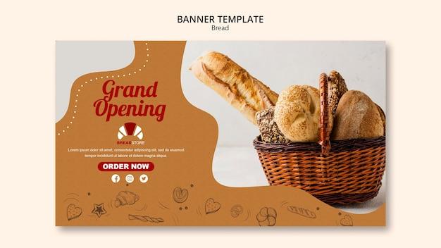 Sjabloon voor spandoek brood concept