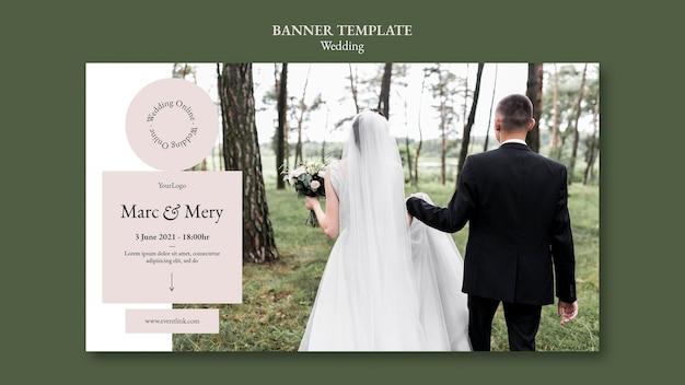 Sjabloon voor spandoek bruiloft evenement