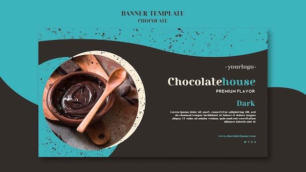Sjabloon voor spandoek chocolade huis
