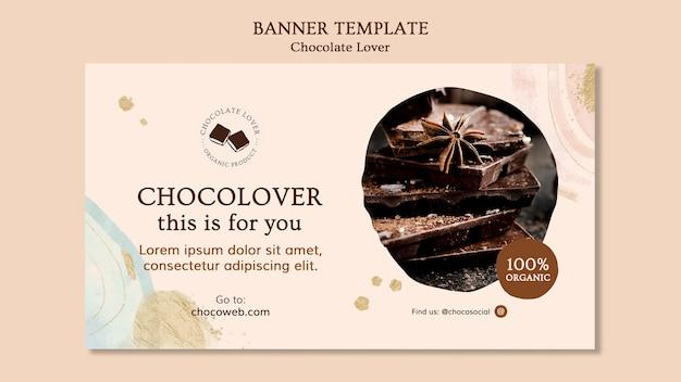 Sjabloon voor spandoek chocolade liefhebber