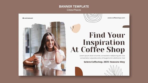 Sjabloon voor spandoek coffeeshop