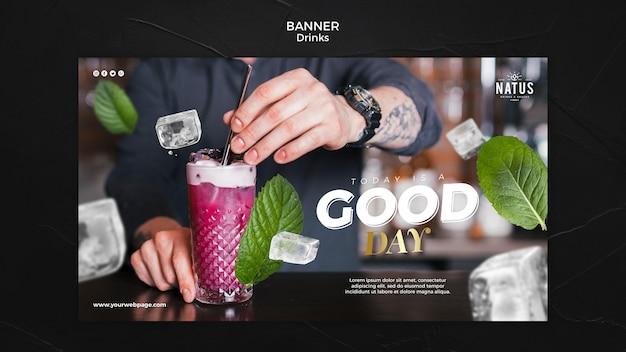 Sjabloon voor spandoek concept dranken