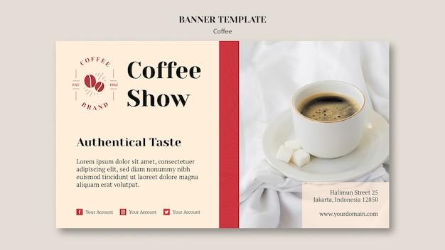 Sjabloon voor spandoek creatieve coffeeshop