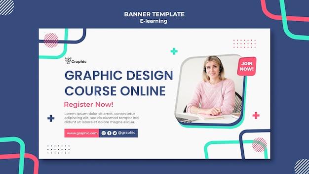 Sjabloon voor spandoek cursus grafisch ontwerp