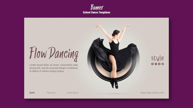 Sjabloon voor spandoek dans concept