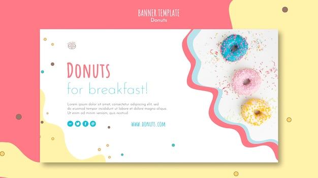 Sjabloon voor spandoek donut concept