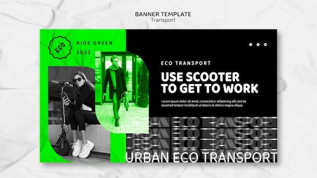 Sjabloon voor spandoek eco transport
