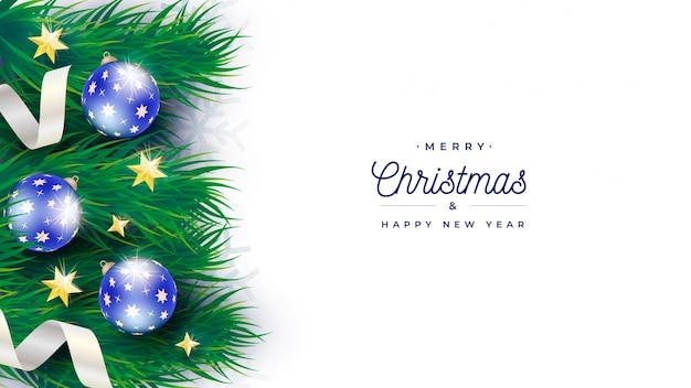 Sjabloon voor spandoek elegante kerstboom