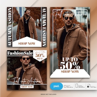 Sjabloon voor spandoek fashion fashion social media