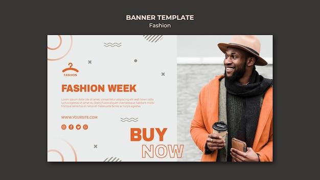 Sjabloon voor spandoek fashion week