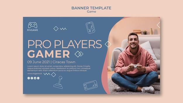 Sjabloon voor spandoek gaming concept