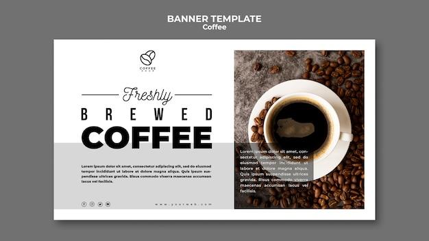 Sjabloon voor spandoek gebrouwen koffie Gratis Psd