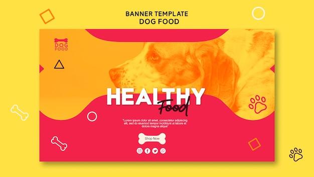 Sjabloon voor spandoek gezonde hondenvoer