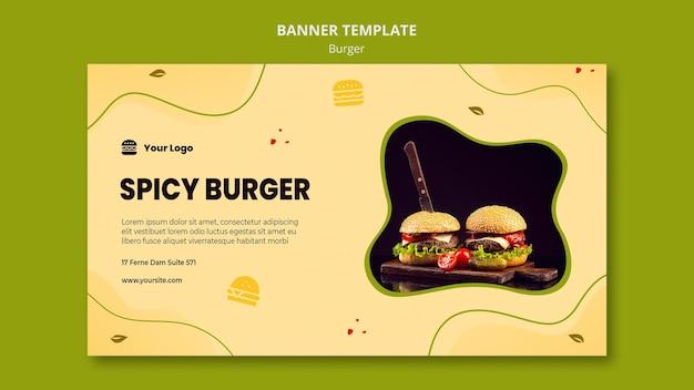 Sjabloon voor spandoek hamburger