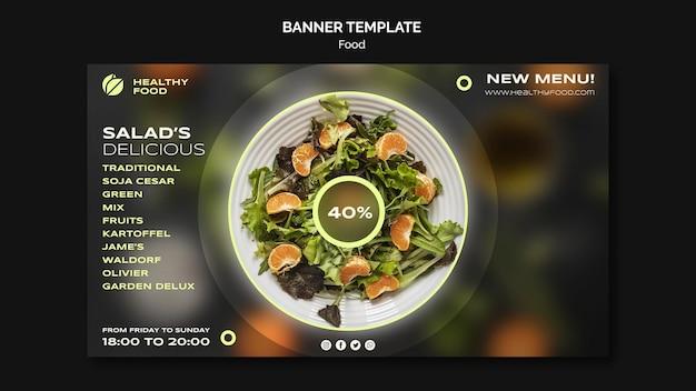 Sjabloon voor spandoek heerlijke salade