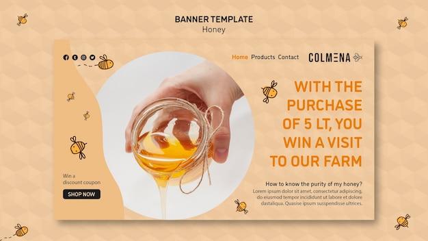 Sjabloon voor spandoek honing winkel