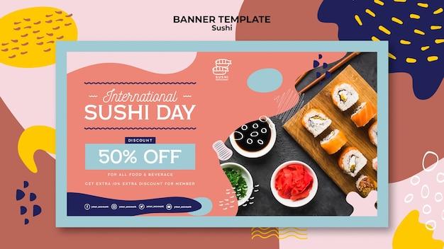Sjabloon voor spandoek internationale dag van de sushi