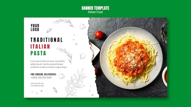 Sjabloon voor spandoek italiaans eten