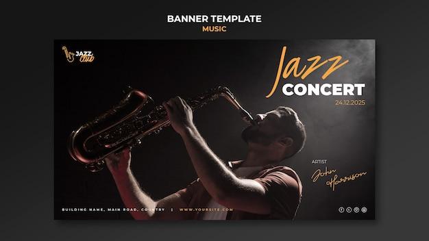 Sjabloon voor spandoek jazzconcert