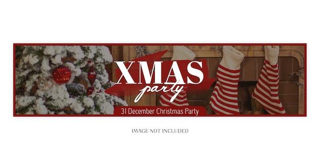 Sjabloon voor spandoek kerstmis en nieuwjaar