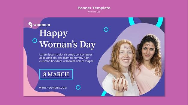 Sjabloon voor spandoek kleurrijke dag vrouwen
