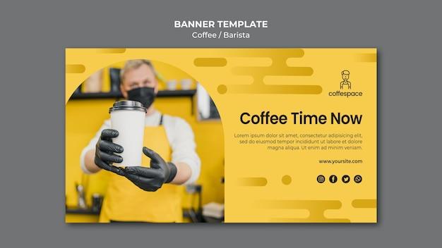 Sjabloon voor spandoek koffie concept