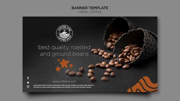 Sjabloon voor spandoek koffie