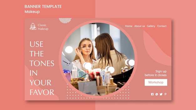 Sjabloon voor spandoek make-up concept