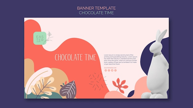 Sjabloon voor spandoek met chocolade ontwerp