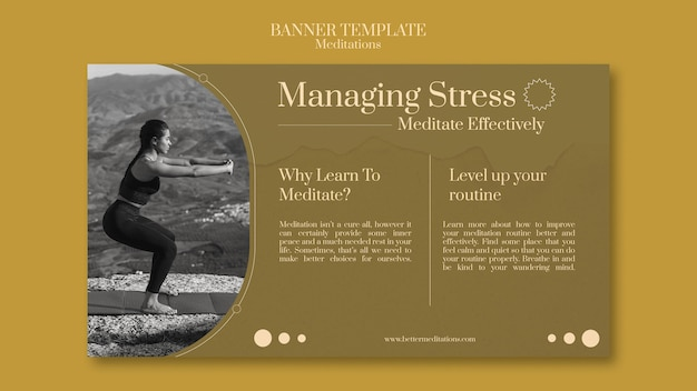 Sjabloon voor spandoek met stress beheren