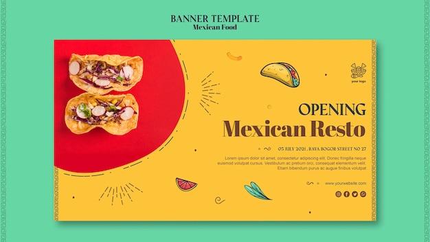 Sjabloon voor spandoek mexicaans eten