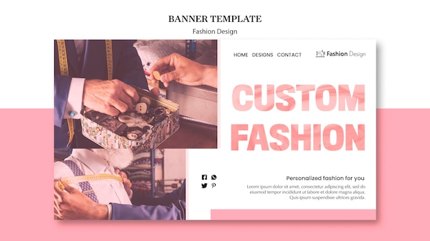 Sjabloon voor spandoek mode-ontwerp