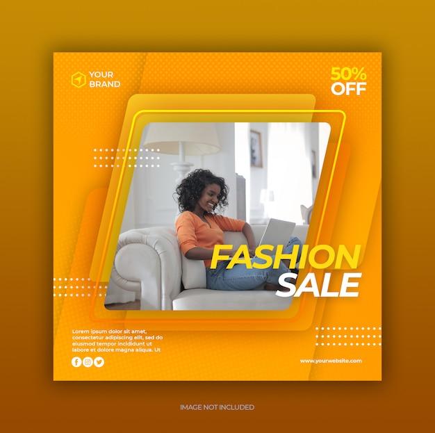 Sjabloon voor spandoek mode verkoop