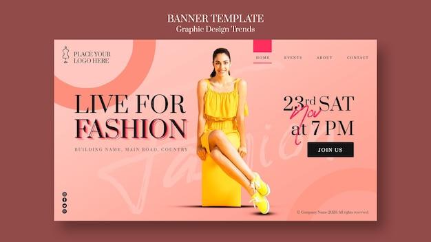Sjabloon voor spandoek mode winkel