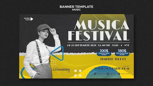 Sjabloon voor spandoek muziekfestival
