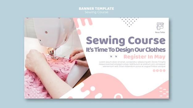 Sjabloon voor spandoek naaien tutorial