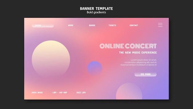 Sjabloon voor spandoek online concert