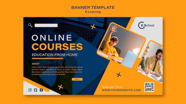 Sjabloon voor spandoek online cursussen