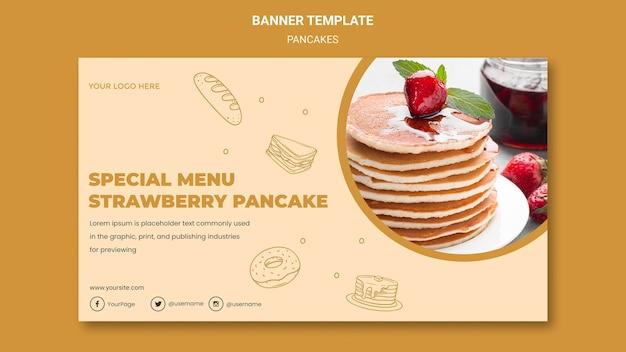 Sjabloon voor spandoek pannenkoeken restaurant